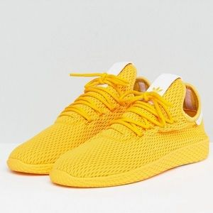 Yellow Adidas Hu Sneakers